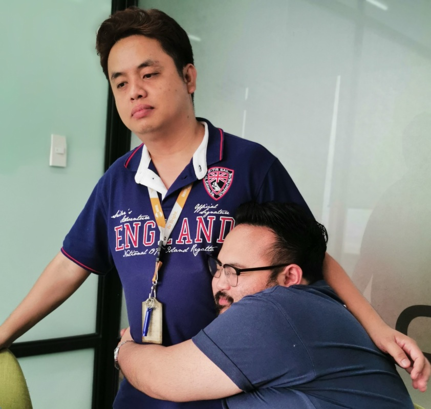 I miss hugging sad officemates, too (Don't be sad, Darell)